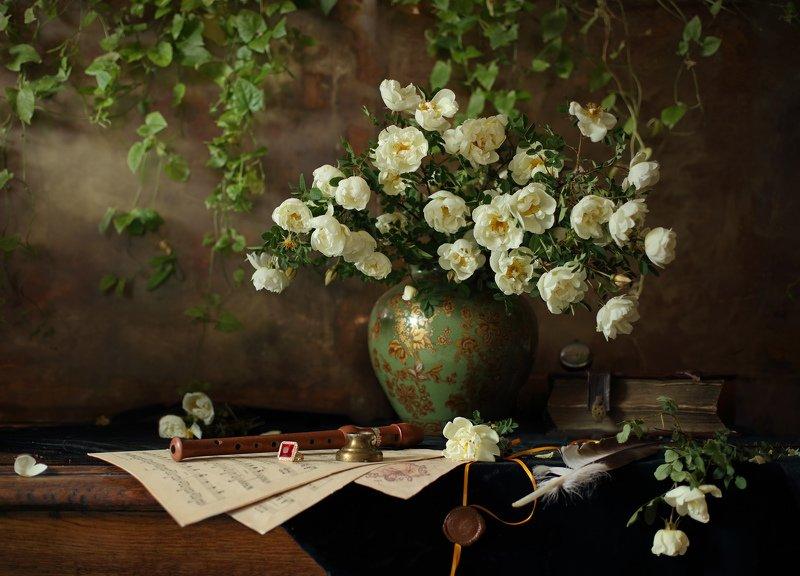 цветы, розы Натюрморт с цветамиphoto preview