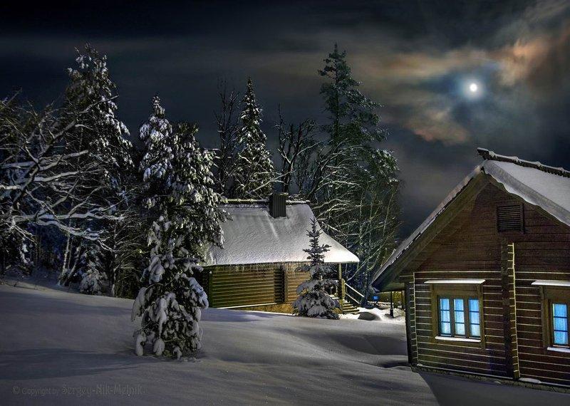 беларусь, звезды, зима, луна, мороз, ночь, снег, замок, гольшаны, вечера-на-хуторе, озерцо, логойск, дудутки, фотограф-интерьеров-в-минске Сказочный лунный вечер на хутореphoto preview