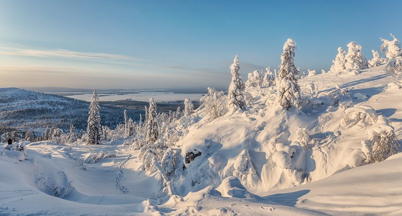 заполярье, гора, снег, ели, волосная, тропинка Мороз и солнце; день чудесный...photo preview