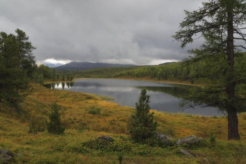 алтай, горы, озеро, облака, лето оз. Киделю Августphoto preview