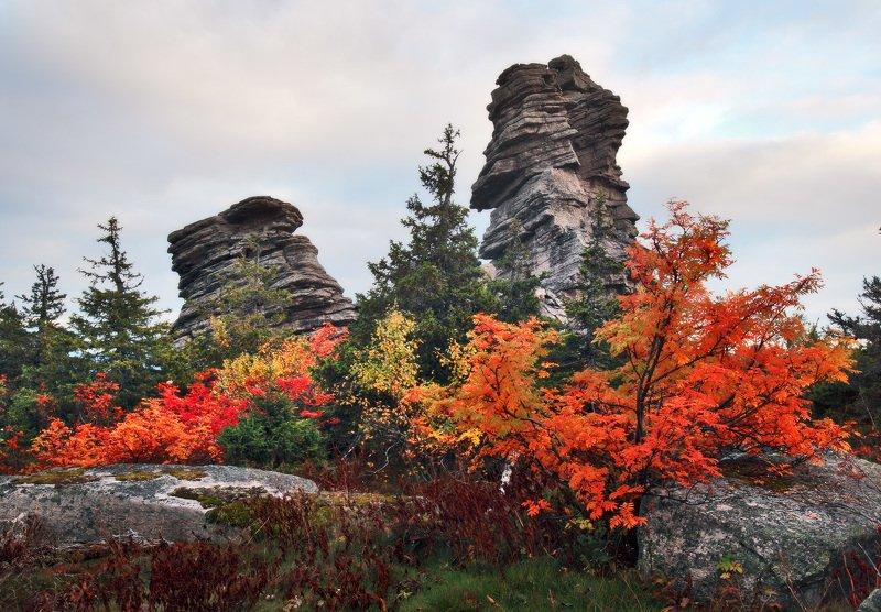 урал, осень, колчимский камень На Колчимском камне...photo preview