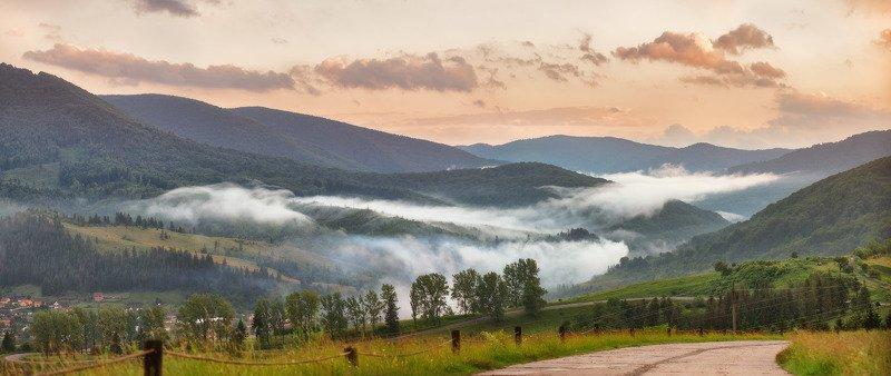 вечер, воловец, горы, закарпатье, закат, июнь, карпаты, лето Летний Воловецphoto preview