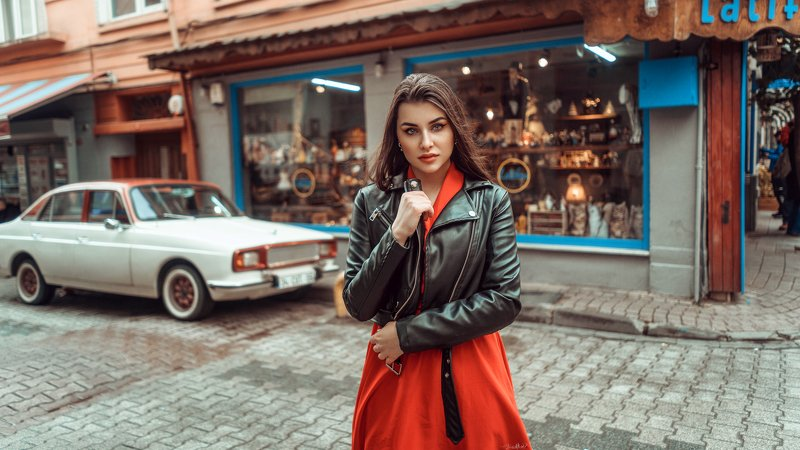 beauty, portrait, daylight, beautiful, girl, pretty, female, red, colorful, sony, istanbul .photo preview