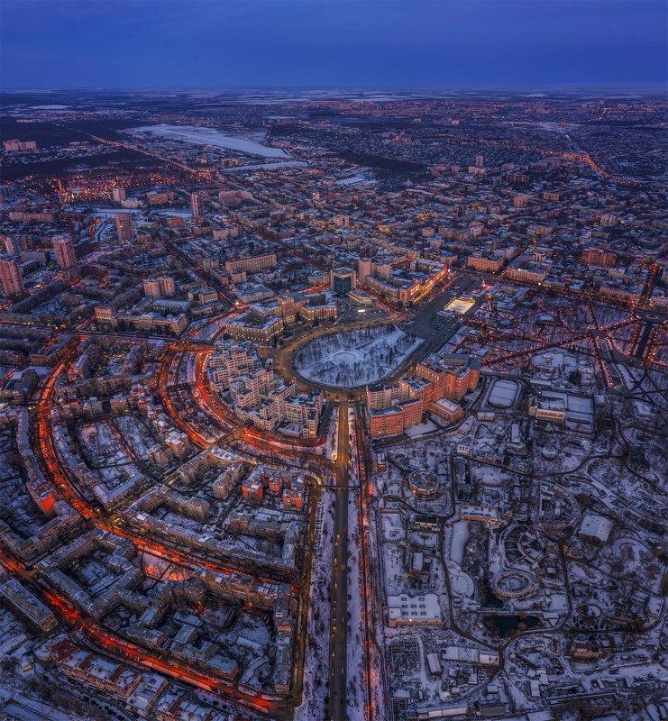 украина, харьков, зима, вечера Вечерних улиц паутина...!photo preview