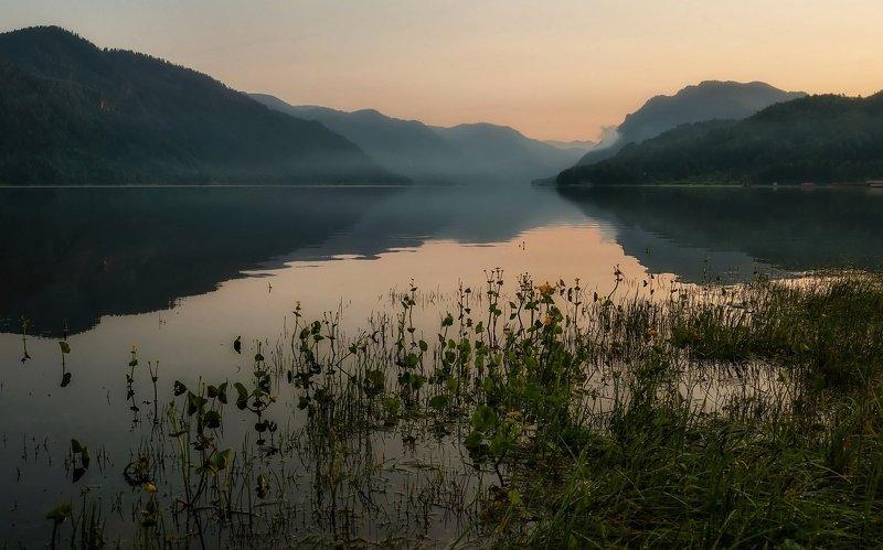Телецкое озеро, рассвет. утро. В ожидании рассвета.photo preview