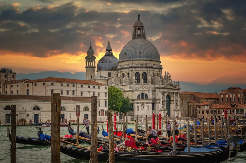 Городской пейзаж путешествия город солнце закат Италия Венеция Венеция.photo preview