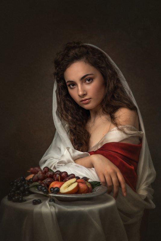 женщина, девушка, портрет, женский портрет, взгляд, глаза, студийный портрет Зояphoto preview