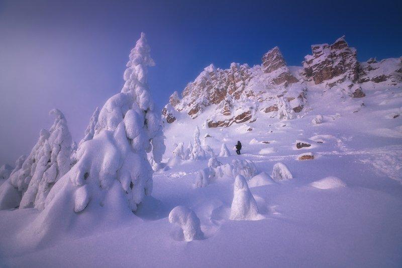 таганай, урал, горы, зима, лес Фотографphoto preview