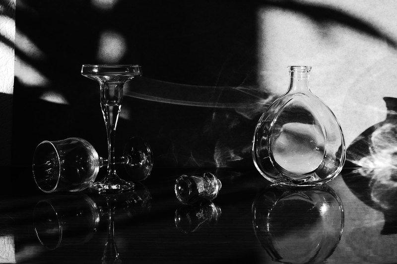 натюрморт, настроение, бутылки, стекло, still life, art, photos Диалогphoto preview