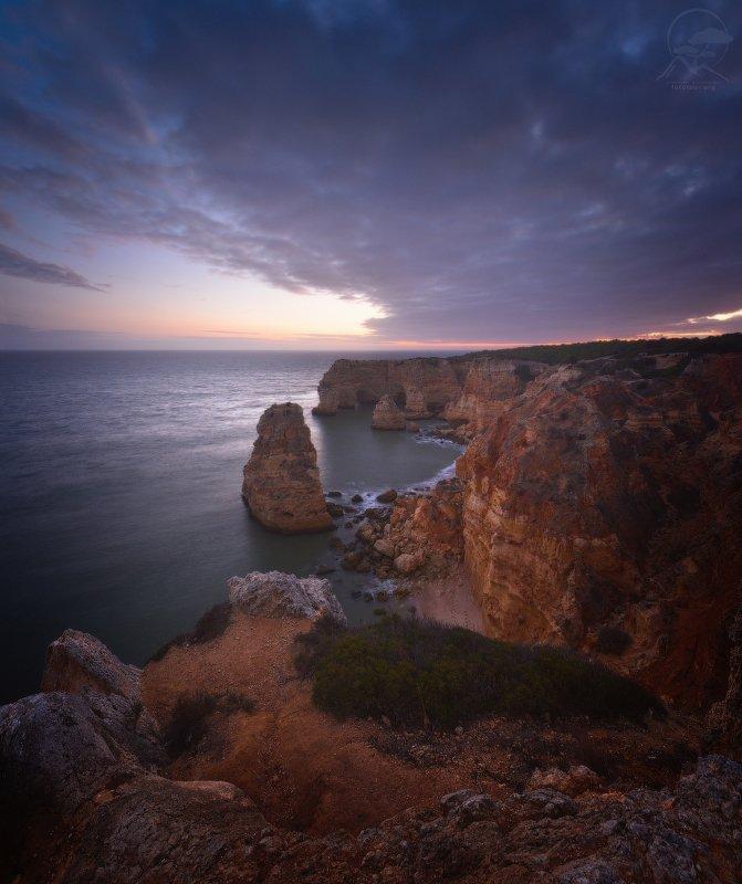 marinha, пляж, португалия, закат, вечер Praia da Marinhaphoto preview