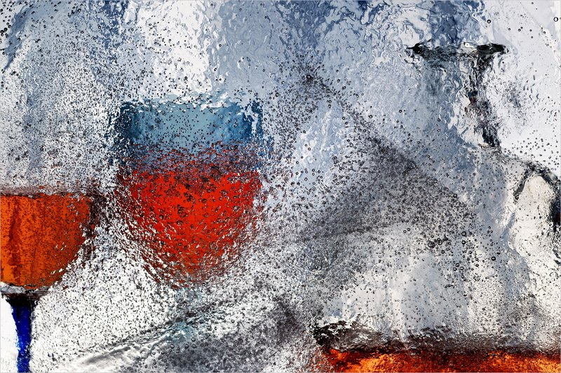 лёд, бокал, бутылка, натюрморт, photo preview