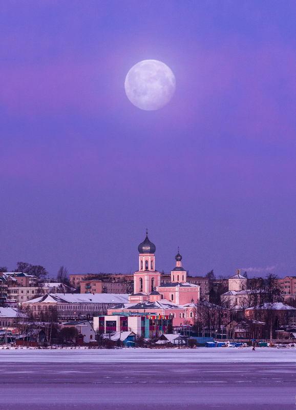 валдай Лунный закат над Валдаемphoto preview