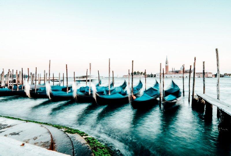 венеция, гондолы, сан-марко, гранд канал, красивый вид, пейзаж, город, архитектура, виды венеции, венеция закат Bella Veneziaphoto preview