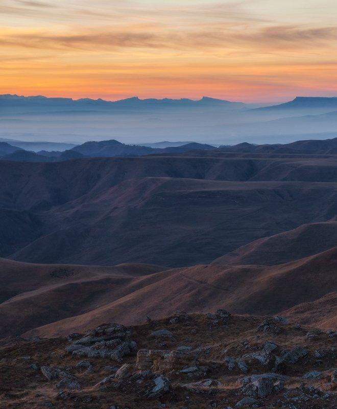 северный кавказ, перевал, гум-баши, ачешбок, осень, закат От Гум-Баши до Ачешбокаphoto preview
