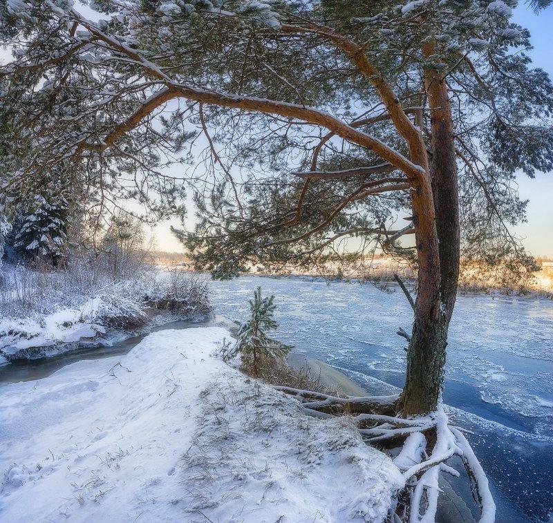 На берегу замерзшей рекиphoto preview
