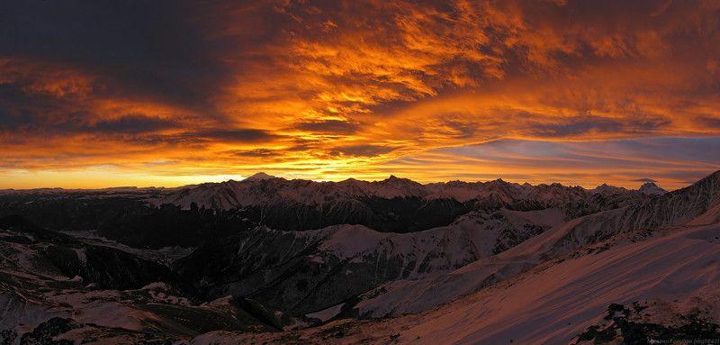 Панорама небесного пожараphoto preview
