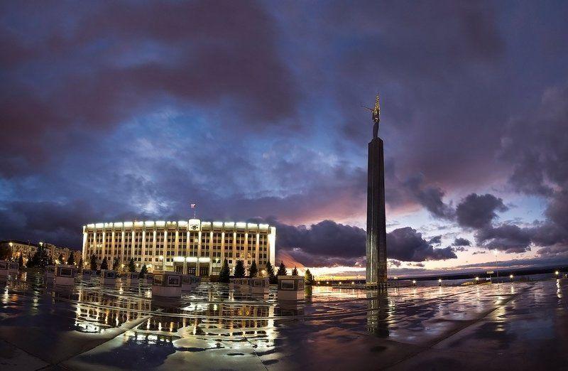 город, ночь, закат Правительство Самарыphoto preview