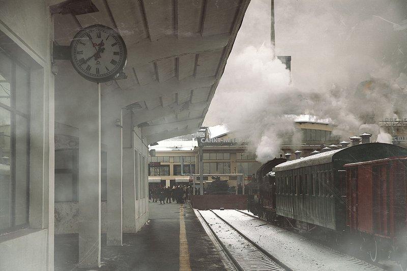железная, дорога, репортаж, санкт-петербург, петербург, паровоз, техника, город, жанр, люди Старый вокзал.photo preview