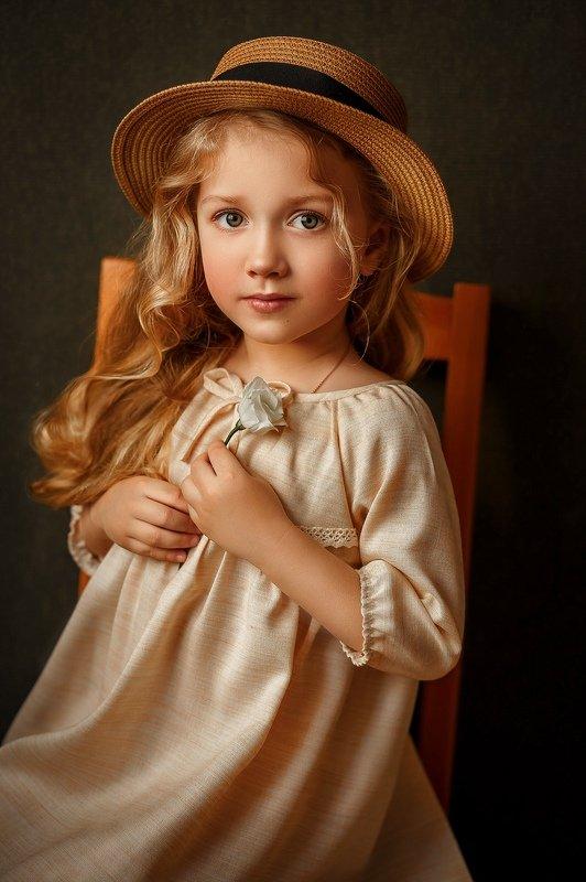 девочка, дети, шляпа, портрет, детский портрет Ульяшаphoto preview