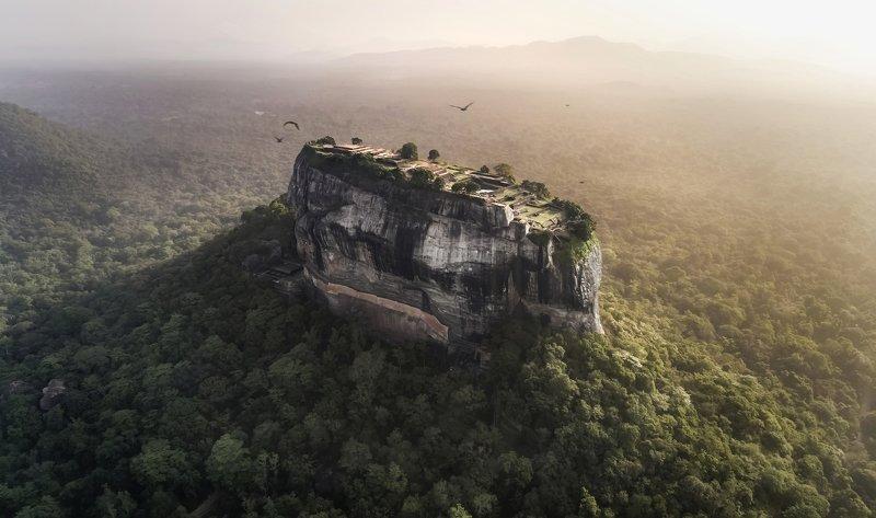sigiriya, sri-lanka, sunrise, шри-ланка, цейлон, сигирия, рассвет Sigirya rock looks like a submarine in the middle of the forest!photo preview