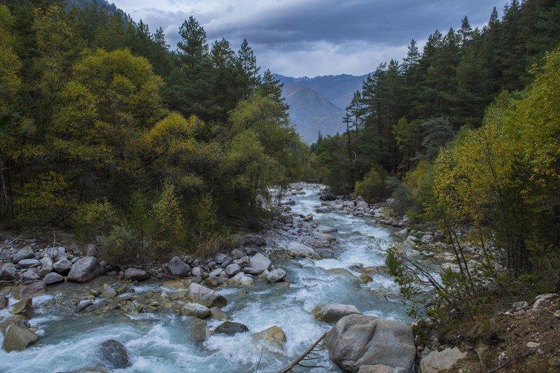 Река Адыр-Су, Кабардино-Балкария, Приэльбрусье, ущелье Адыр-Су, осень в горах, реки Северного кавказа Река Адыр-Суphoto preview
