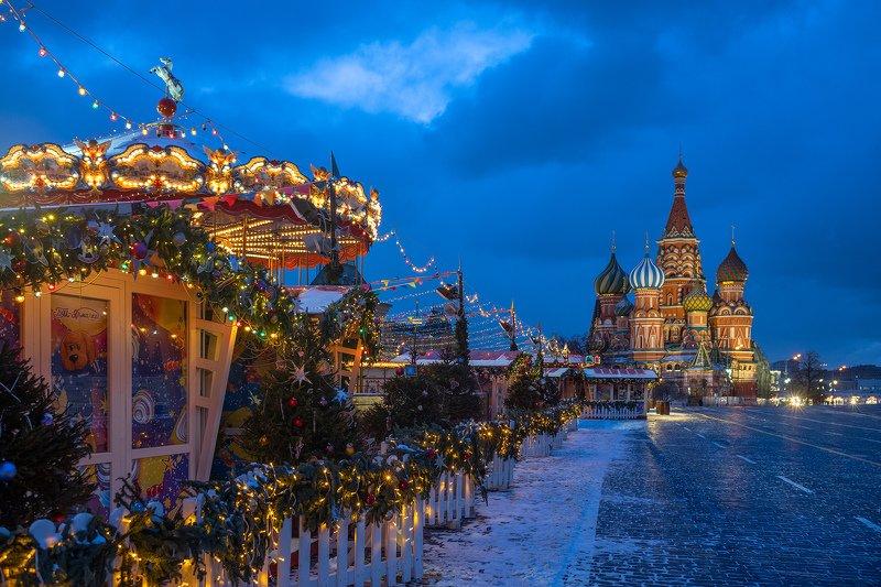 Москва, Красная, площадь, храм, собор, зима, утро Москва. Красная площадь.photo preview