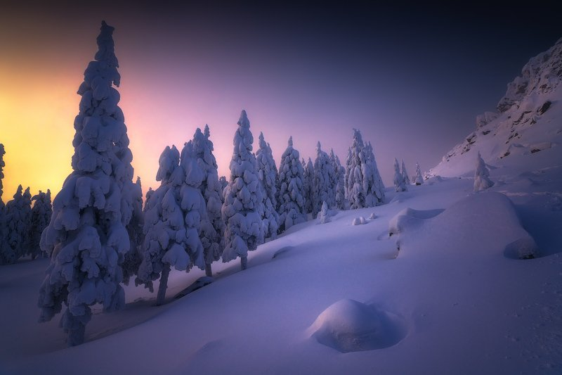 таганай, урал, горы, зима, лес В зимних рядахphoto preview