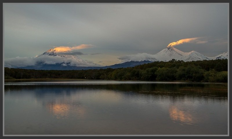 камчатка kamchatka вулкан авачинский  корякский Факелы вулканов .photo preview