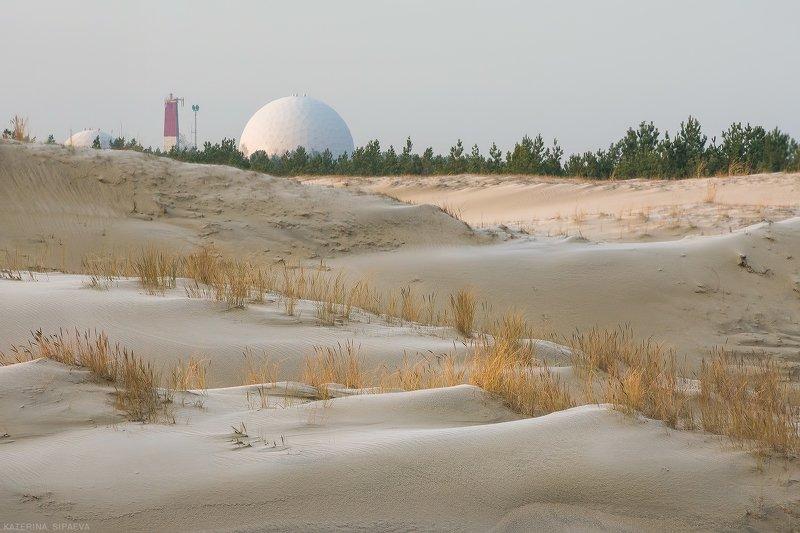 пейзаж, куршская коса, дюны Пейзаж на фоне...photo preview
