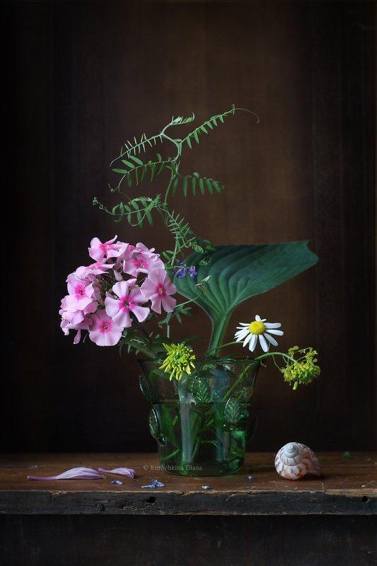 натюрморт, букет, флокс, розовый Букетик с розовым флоксомphoto preview