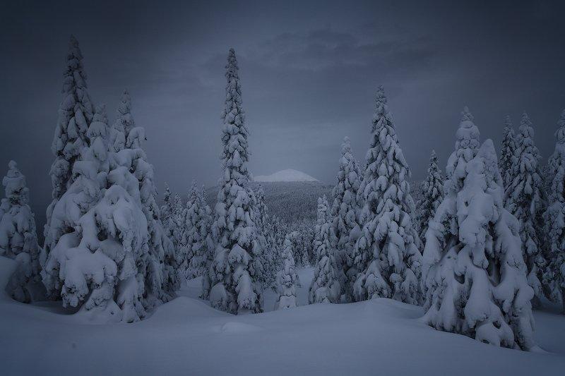 таганай, урал, горы, зима, лес Тайна горыphoto preview