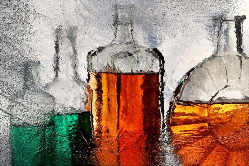 лёд, бутылки, натюрморт, photo preview