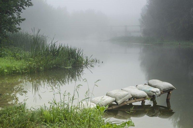 река,туман,утро,река псел,рассвет,лето,сергей корнев,пейзаж,фотография,природа,красота,композиция,искусство,украина,гадяч Река в туманеphoto preview