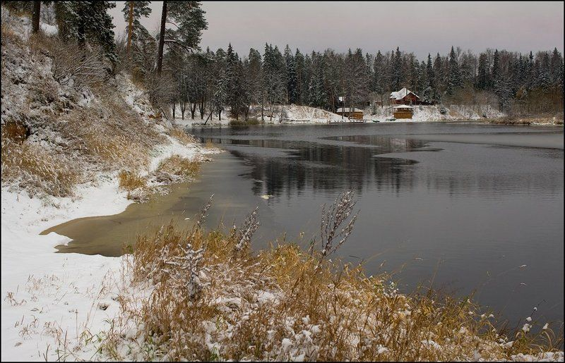 река, оредеж, ноябрь ***photo preview