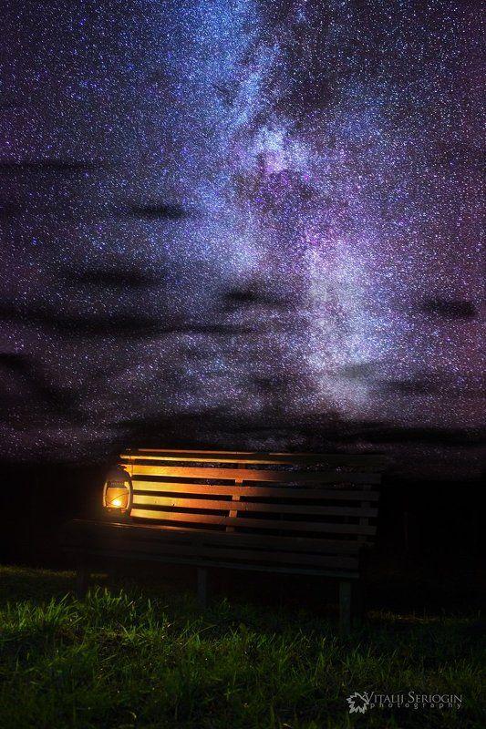 ноч, лампа, галактика, млечный, путь, звёзды Ночные светилыphoto preview
