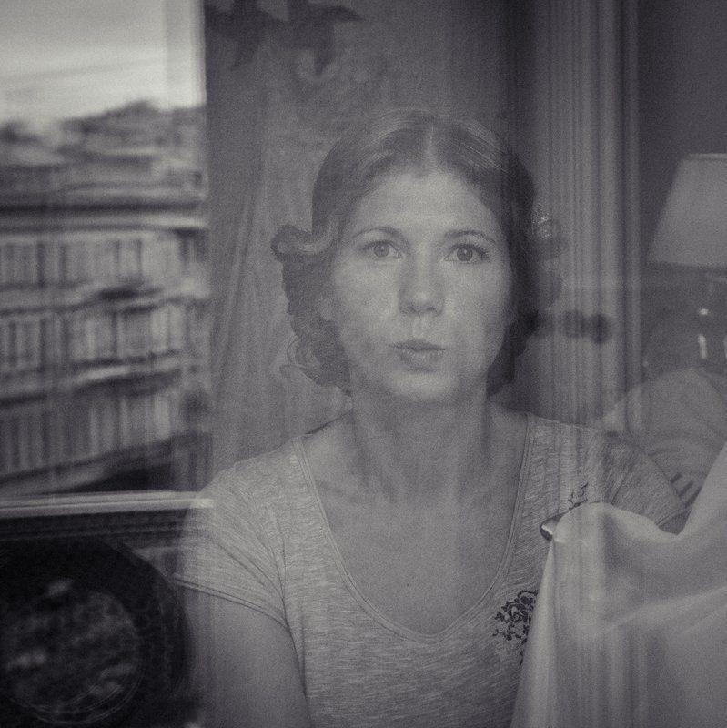 отель, портрет, чб, отражение, петербург Утроphoto preview