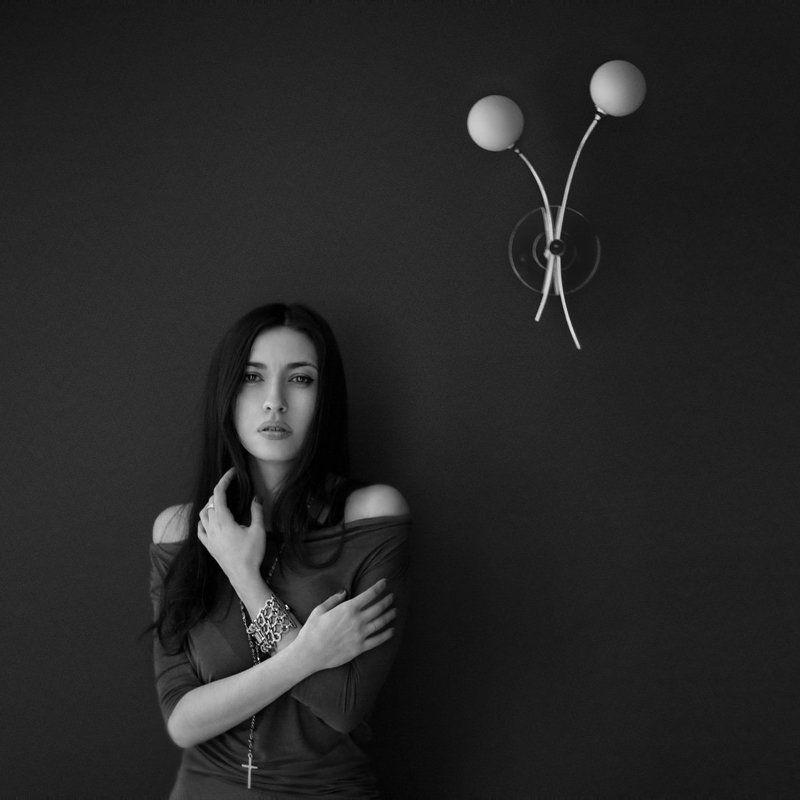 портрет, девушка, фотограф пенкин александр, чб фото ***photo preview