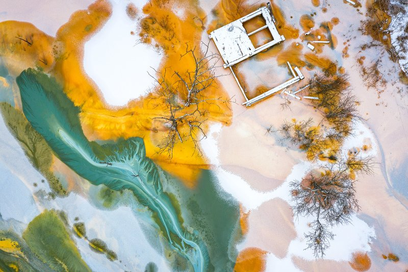 #aerial, #fineart, #abstract, #nature, #chemichal, #pollution, #romania United colors of poisonphoto preview