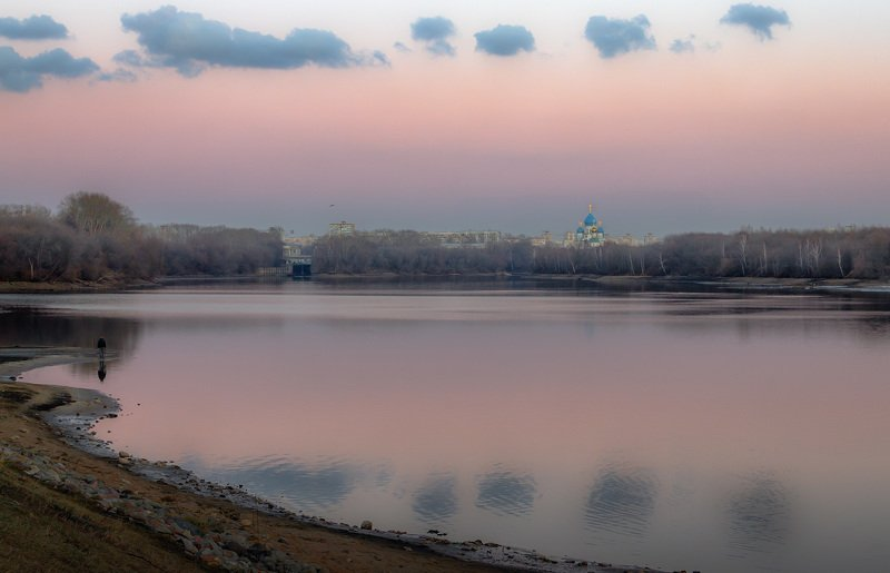 москва, река, вечер, облака, храм, монастырь, николо-перервинский После закатаphoto preview