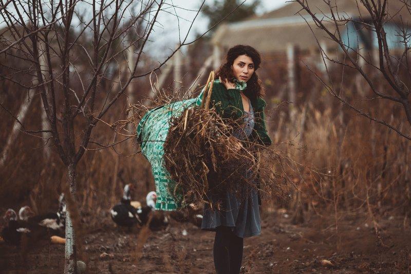 осень, модель, огород, работа, портрет  Осенние работыphoto preview