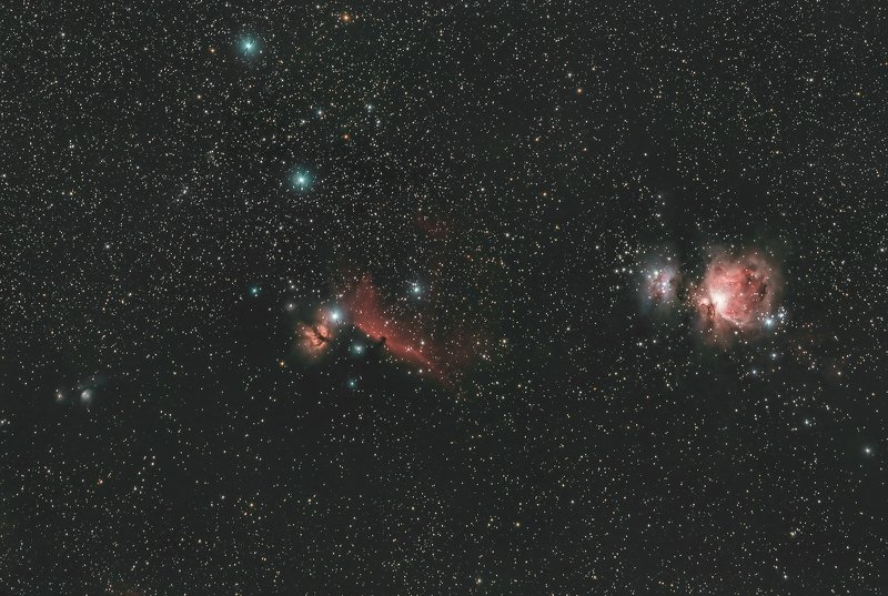 astrophotography Wide field on Orion Constellationphoto preview