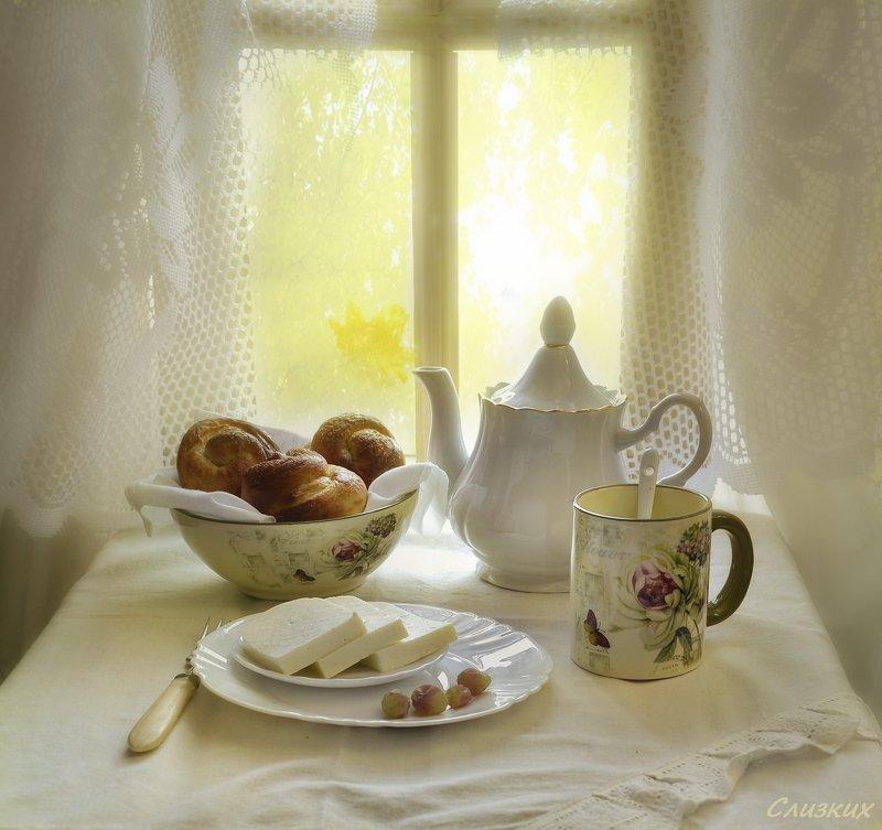 натюрморт,композиция,свет,солнце,чай,сыр Утроphoto preview