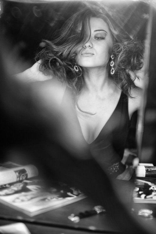 модель, портрет, студия, гримёрка, гримёрная, портрет, красотка ...за кадром...photo preview