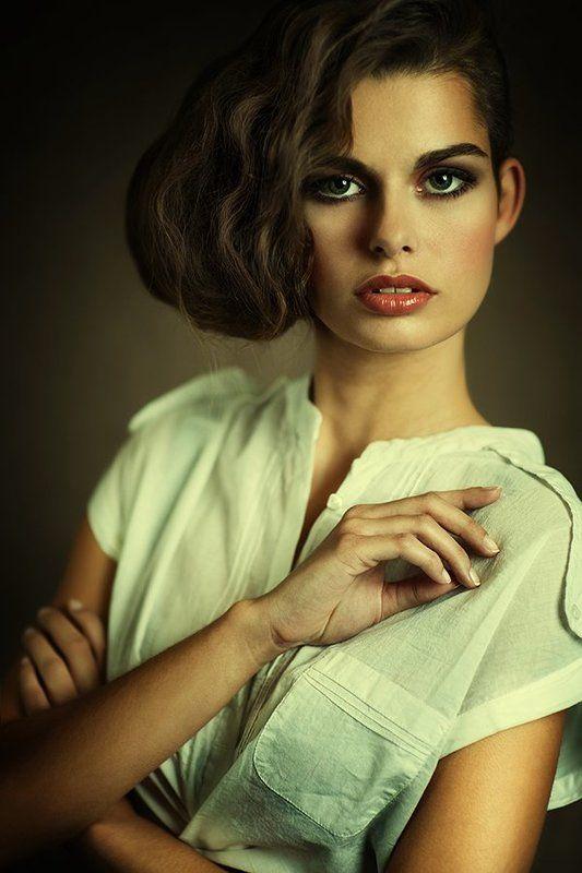 portrait, woman, model, studio, vintage ...photo preview