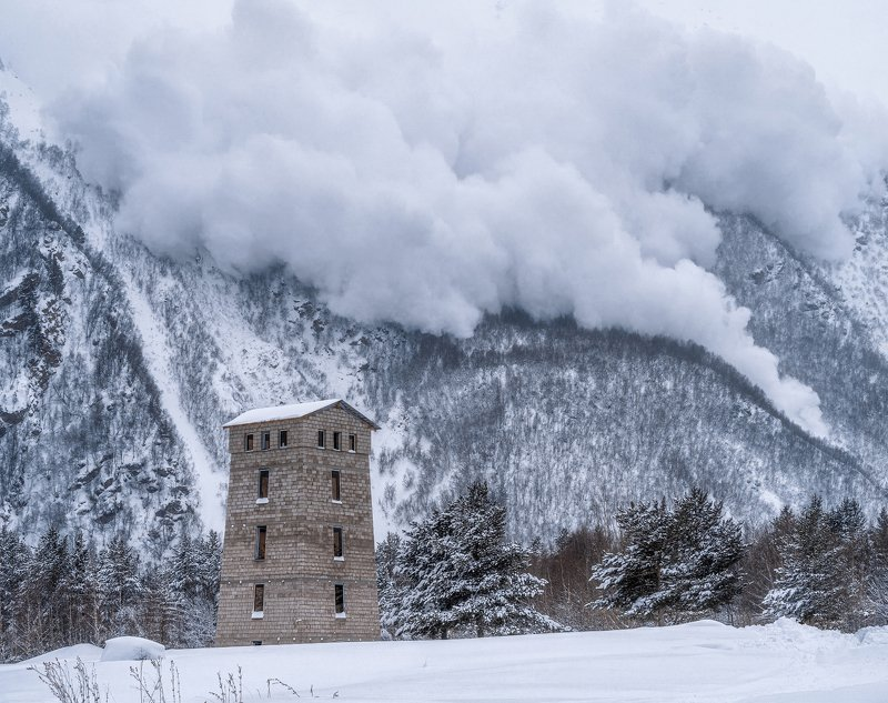 терскол, эльбрус, лавина, снег, зима, холод, сход лавины, гора, terskol, elbrus, avalanche, snow, winter, cold, avalanche descent, mountain, Сход лавиныphoto preview