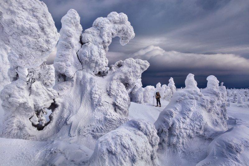 урал, зима, гух, горы, снег, ели, облака На Главном Уральском...photo preview