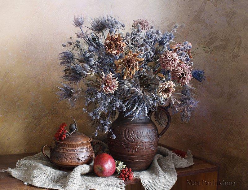 сухоцветы,натюрморт,вера павлухина, Букет сухоцветов .photo preview