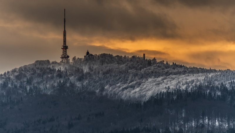 mountains, winter, poland, sunset, snow, landscape Burning skyphoto preview