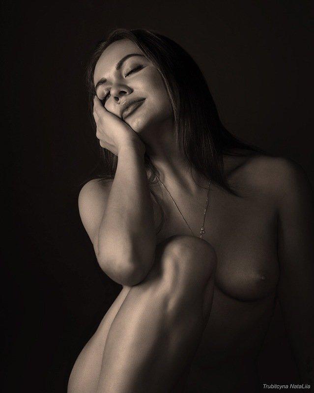девушка, красота, релакс Негаphoto preview