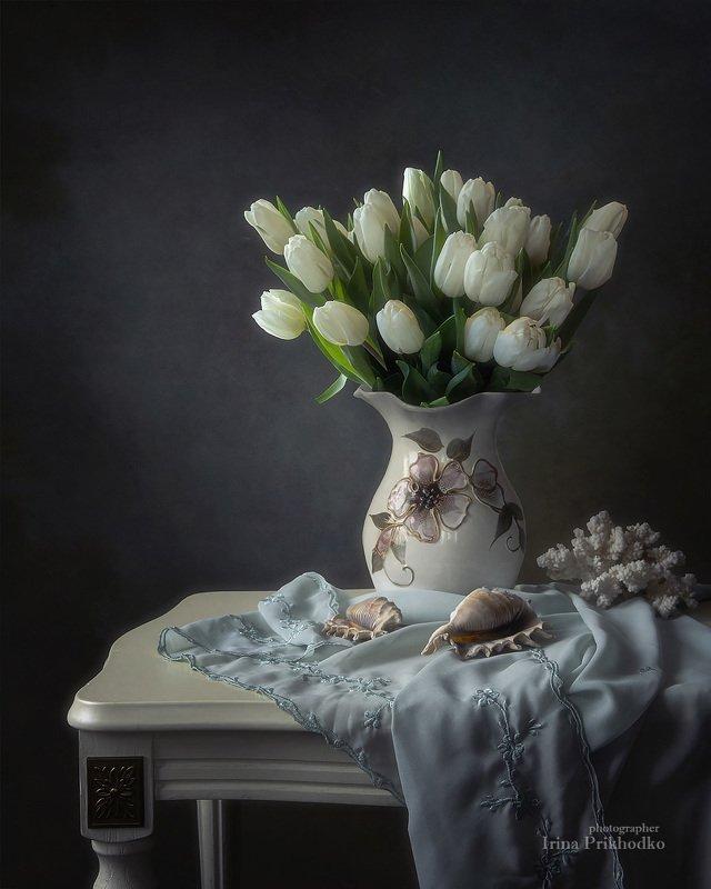 Нежность белых тюльпанов